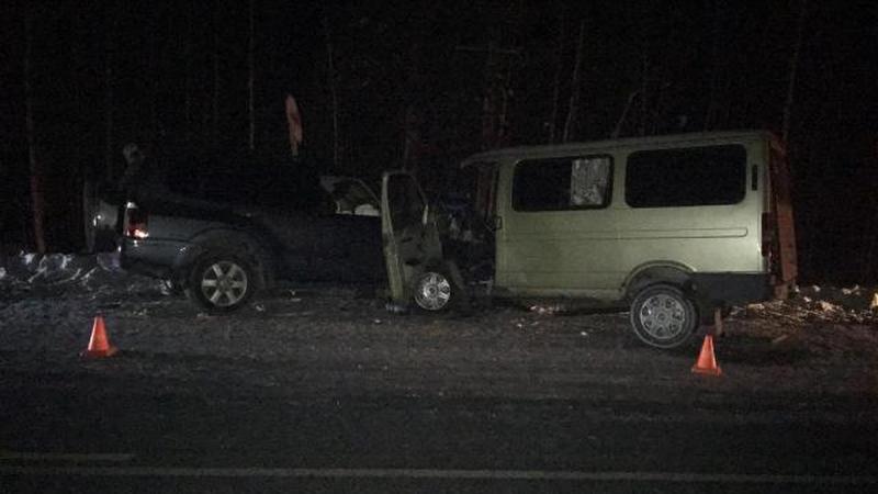 При столкновении джипа имикрофургона вЮгре пострадали 6 человек